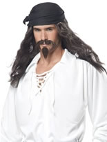 Pirate Wig and Moustache [70721]