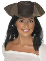 Pirates Hat Brown Leather Look [25530]