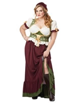Adult Plus Size Renaissance Wench Costume [01705]