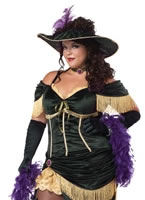 Adult Plus Size Saloon Madame Costume