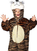 Childrens Plush Tiger Costume [30013]
