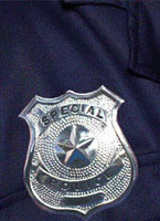 Police Badge Silver Metal [22480]