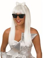 Adult Gaga Pop Diva Wig & Glasses