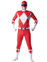 Adult Power Ranger Red Ranger Second Skin Costume [887102]