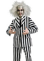 Premium Beetlejuice Costume including Wig & Makeup Kit