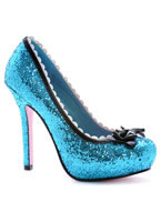Princess Blue Glitter Pump Shoe