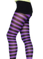 Purple and Black Tights