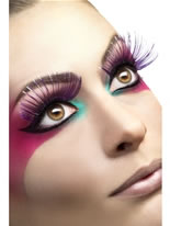 Purple Eyelashes with Metallic Strip