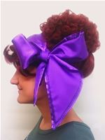 Purple Satin Headscarf