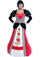 Adult Queen of Hearts Long Dress Costume