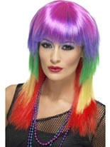 Rainbow Rocker Wig