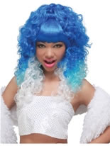Nicki Minaj Blue Wig [70686]