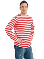 Red and White Striped Jumper [FS2958]