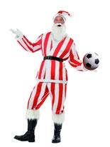 Adult Red & White Striped Sport Santa Costume [22733]