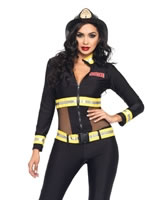 Adult Red Blaze Firefighter Costume