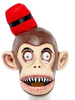Red Fez Monkey Full Head Mask