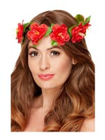 Red Hawaiian Flower Crown