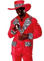 Adult Red Hot Playa Pimp Costume