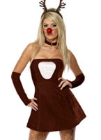 Adult Red Hot Reindeer Costume