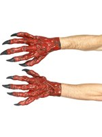Red Latex Devil Hands [45081]