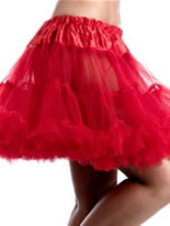 Adult Red Multi Layered Tutu Skirt