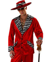 Adult Red Pimp Costume [00839R]