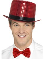 Red Sequin Top Hat [48261]
