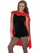 Adult Ladies Red Super Hero Cape [FS3557]