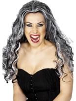 Adult Renaissance Vampire Wig Black