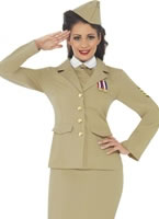 1940s Retro Officer Woman Costume