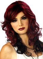 Rock Vixen Burgundy Wig [70247]