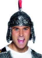 Roman Soldiers Helmet Silver Rubber