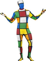 Adult Rubik's Cube Second Skin Costume