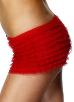 Ruffle Lace Panties Red