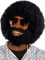 Rufus Afro Wig and Moustache