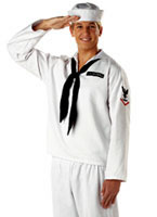 Adult Sailor White Costume [00939]