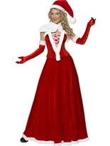 Adult Santa Long Skirt Costume [36985]