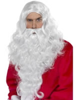 Santa Long Wig and Beard [38317]