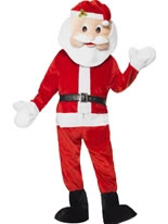Adult Deluxe Santa Mascot Costume [39841]