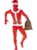 Adult Santa Second Skin Suit Costume [22036]