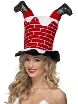 Santa Stuck in Chimney Hat [38335]