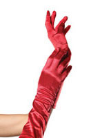 Satin Elbow Length Gloves [8B]
