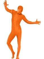 Adult Orange Second Skin Suit Costume