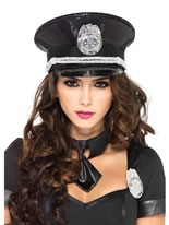 Deluxe Sequin Cop Hat