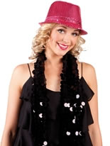 Sequin Fedora Hat Pink [01275]