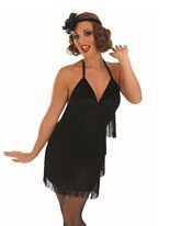 Adult Sexy Black Flapper Costume