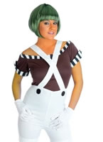 Sexy Oompa Loompa Factory Worker Costume with Wig