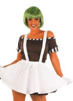 Adult Sexy Oompa Loompa Costume with Wig
