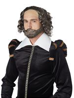 Shakespeare Wig, Moustache and Beard Set