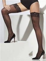 Sheer Black Lace Hold Ups